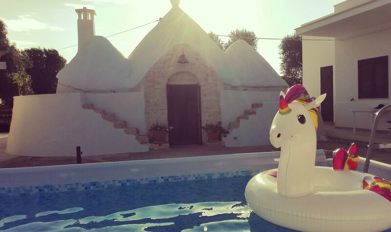 Trullo Il Noce with jacuzzi, aircon,12km from Ostuni, holiday rental in San Vito dei Normanni