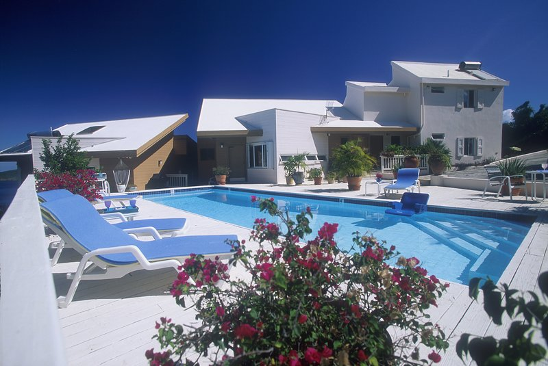 Spectacular views, full pool, 3-bedroom spacious accommodations for up to 8. Kids<2 free. Pets OK