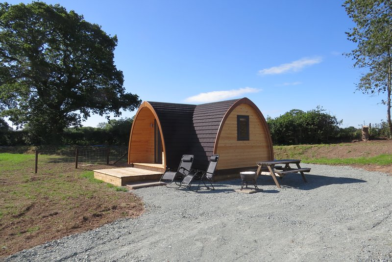 Cheshire View glamping pod at Archers' Meadow