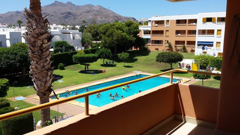 Terraza (vistas a Mojacar Pueblo y a la piscina)