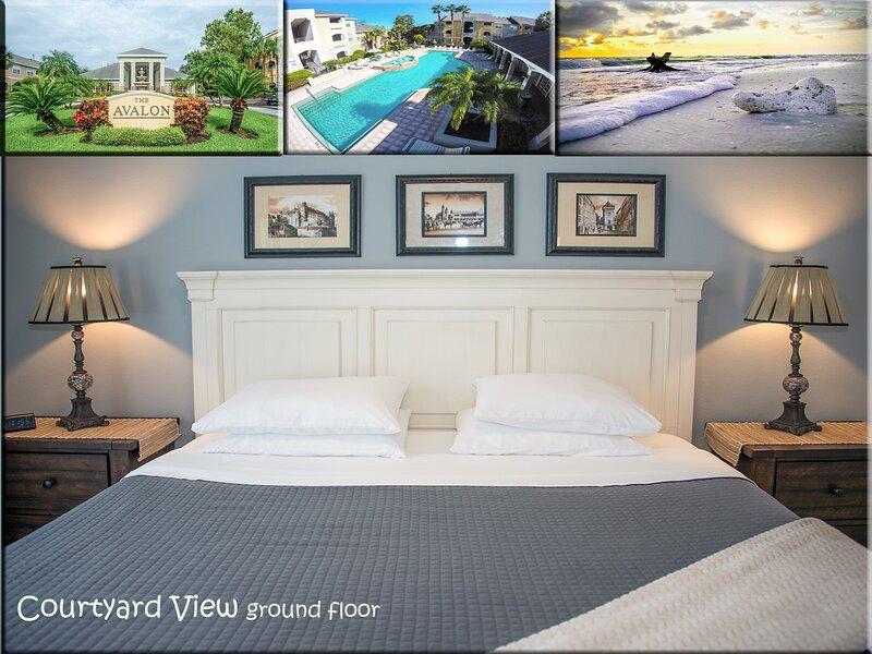 COURTYARD VIEW modern condo near Gulf of Mexico beaches, alquiler de vacaciones en Crystal Beach