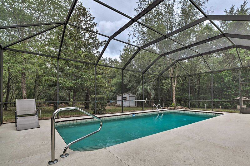 This vacation rental features exclusive amenities like the private pool.
