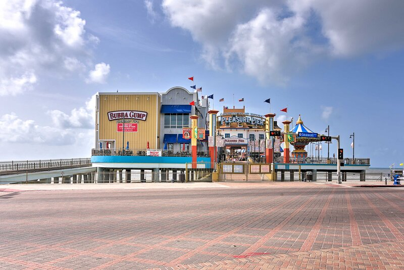 From here, you'll be just a 0.5-mile walk from Pleasure Pier!