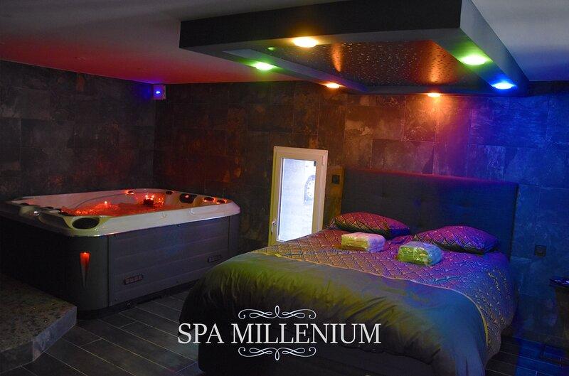 Appartement avec jacuzzi, sauna, clim., TV, douche italienne et cuisine équipée, holiday rental in Grenoble