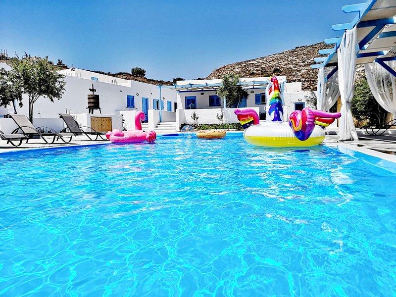 modern villa near Beach, holiday rental in Agios Georgios