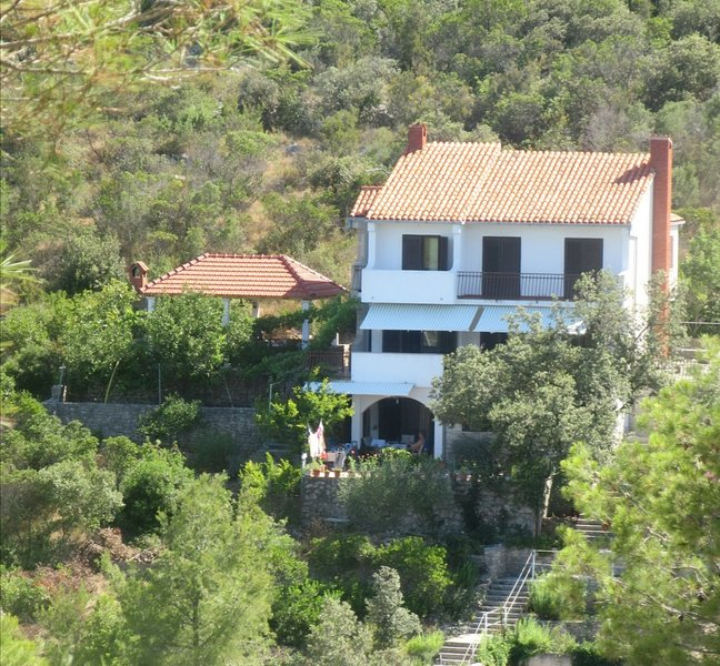 Seafront rural big house at Croacia island ideal for families and large groups, holiday rental in Solta Island