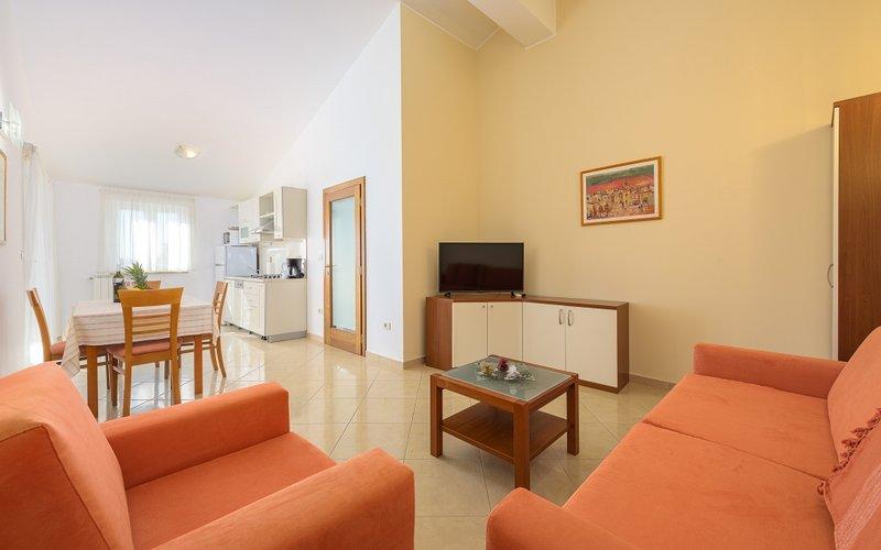 Apartment 113-6 for 6 Pers. in Bašanija, location de vacances à Basanija