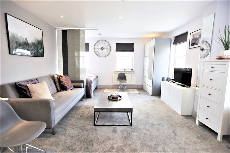 STAYCATION! Lovely Private Studio Apartment Hampton Court, vacation rental in Sunbury