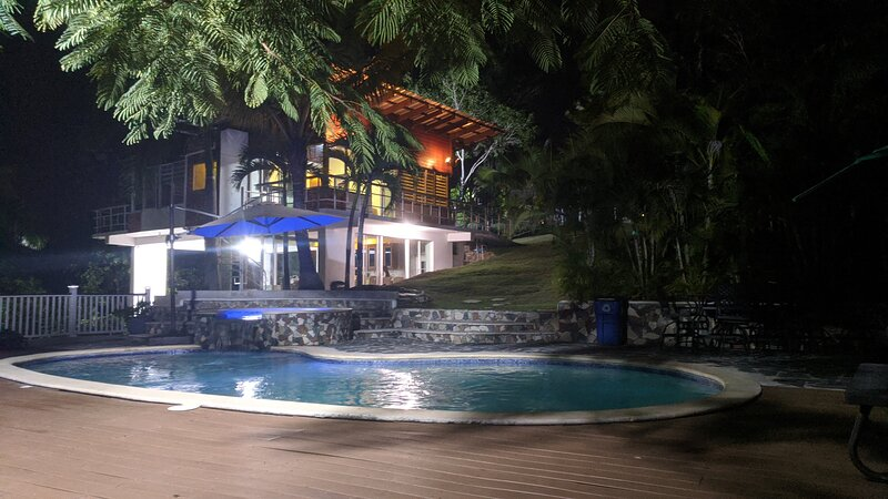 Night photo of The Villa