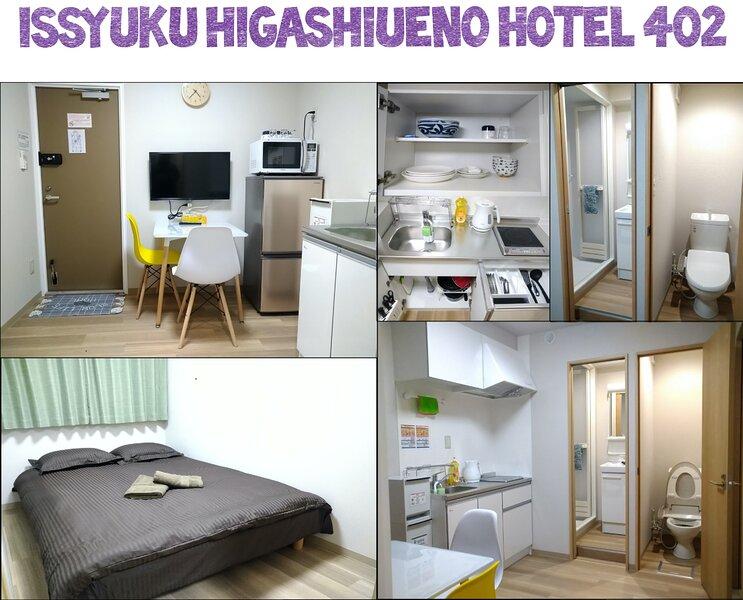 Issyuku Higashiueno Hotel 402, aluguéis de temporada em Koto