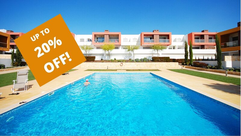 UP TO 20% OFF! VITISMAR AF Ground floor,quality complex,3 pools,garden,AC,WiFi, vacation rental in Guia