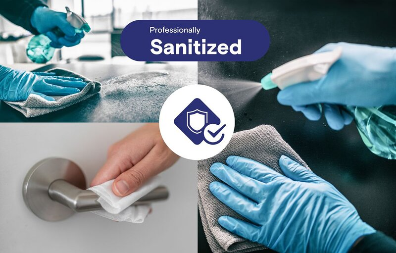 Cleaned and sanitized according to CDC guidelines