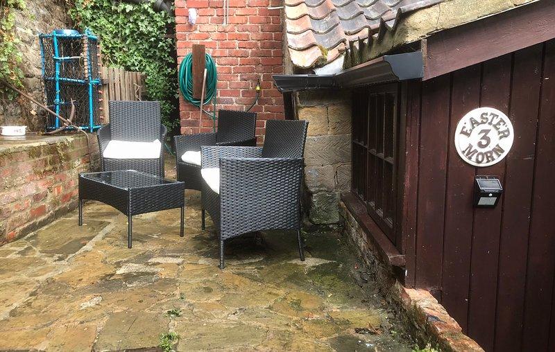 yard with garden furniture