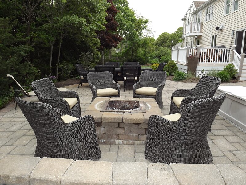 Firepit with Comfortable Seating In Backyard