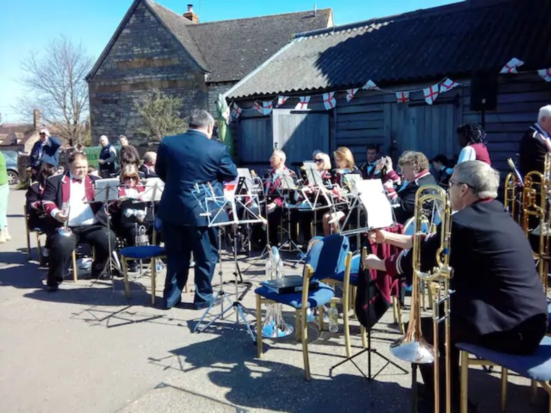 Bretforton Brass Band at the Fleece Inn