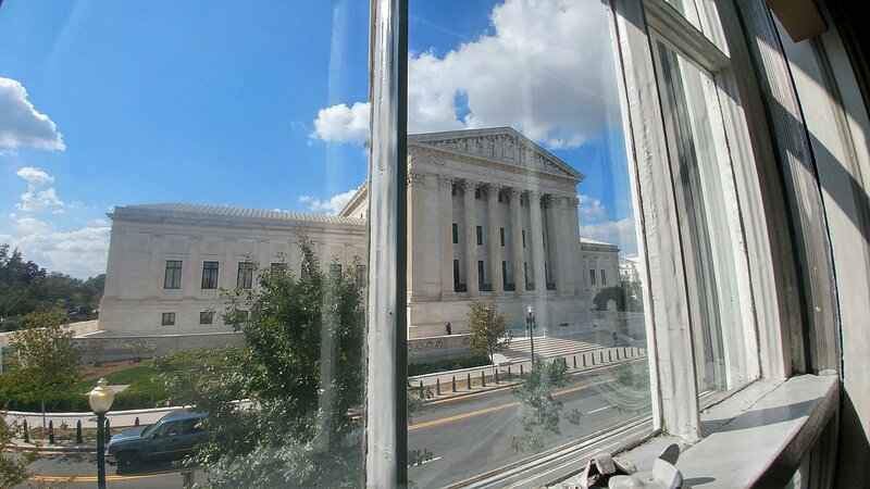 Stunning Supreme Court view from apartment.