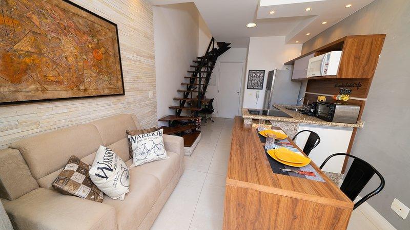Premium Duplex Nyc Berrini, location de vacances à Taboao da Serra