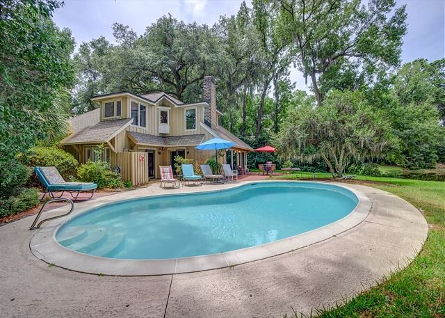 22 Red Maple,Private Heated Pool, Walk to Beach, Golf Views, Free Bikes, vakantiewoning in Hilton Head