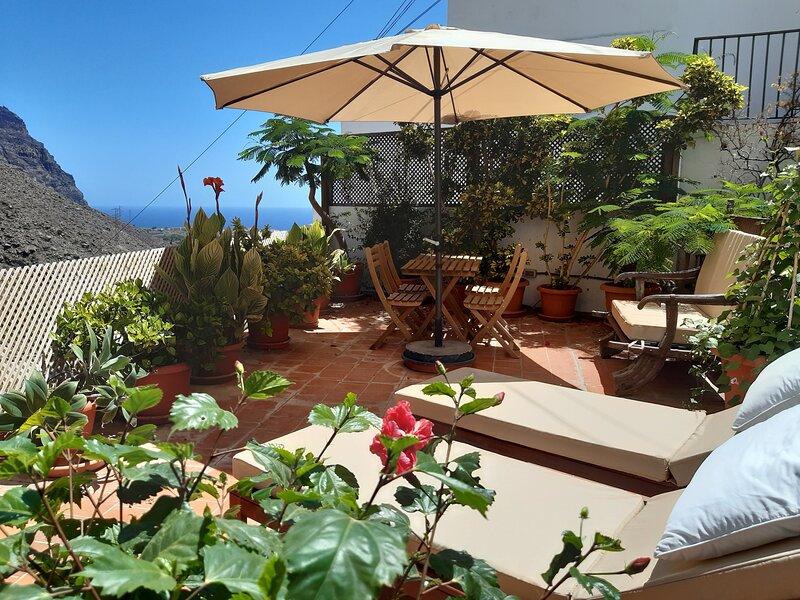 Casa Bibi - stunning island location, mountain & ocean views from roof terrace, vacation rental in La Gomera