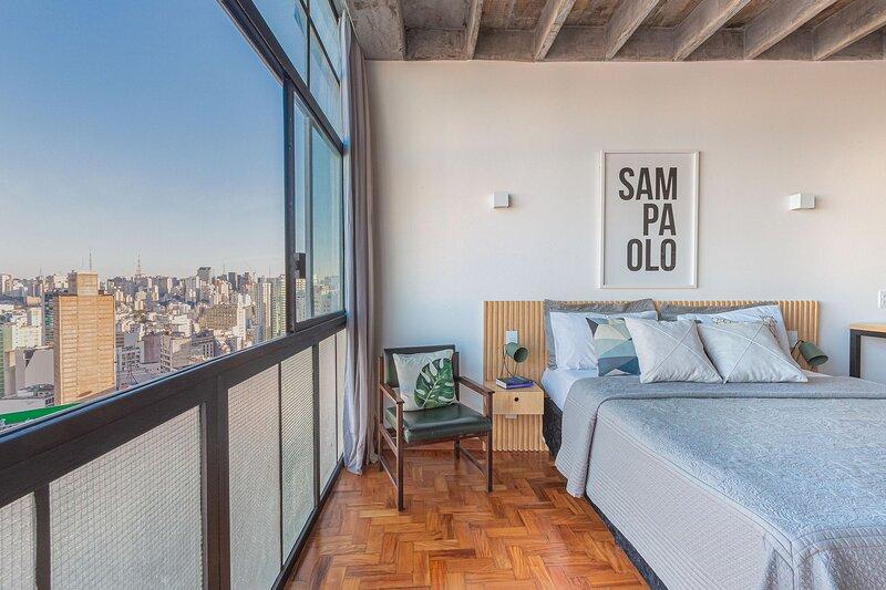 Studio decorado Debruçado sobre SP - Ed. Copan, vacation rental in Sao Paulo