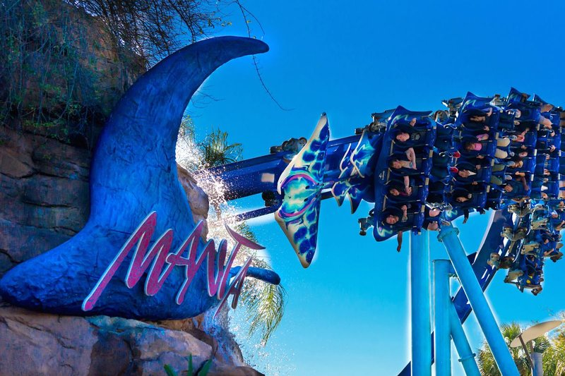 Visit SeaWorld Orlando - enjoy roller coasters, see shows and learn about animals