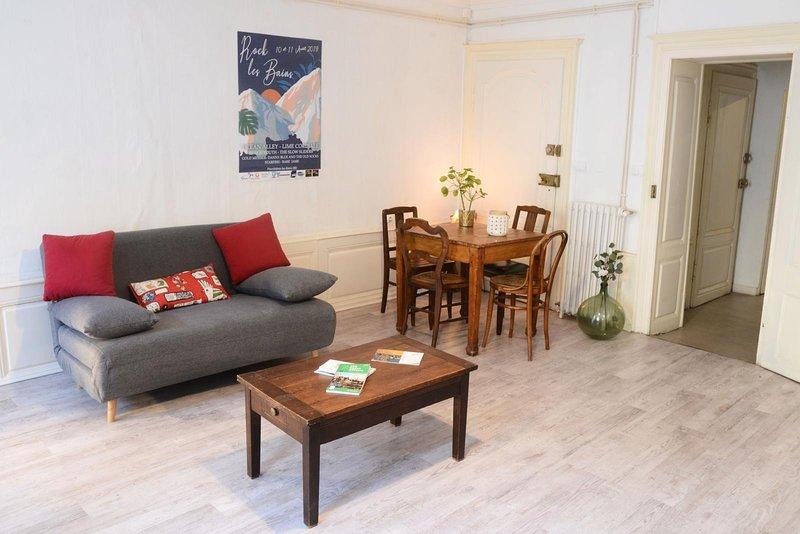 Beautiful apartement in historic Plombières-Les-Bains, vacation rental in Aillevillers-et-Lyaumont