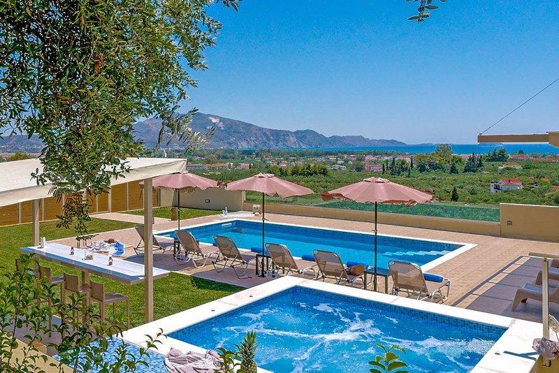 Villa Hill Sea View, holiday rental in Laganas