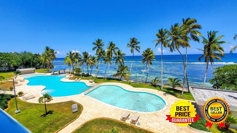 Lujoso apartamento con piscina en la playa, holiday rental in Guayacanes