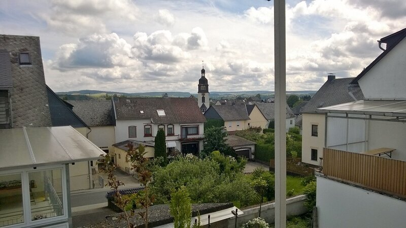 View from the balcony over the village Werlau existing since 992 a.D.