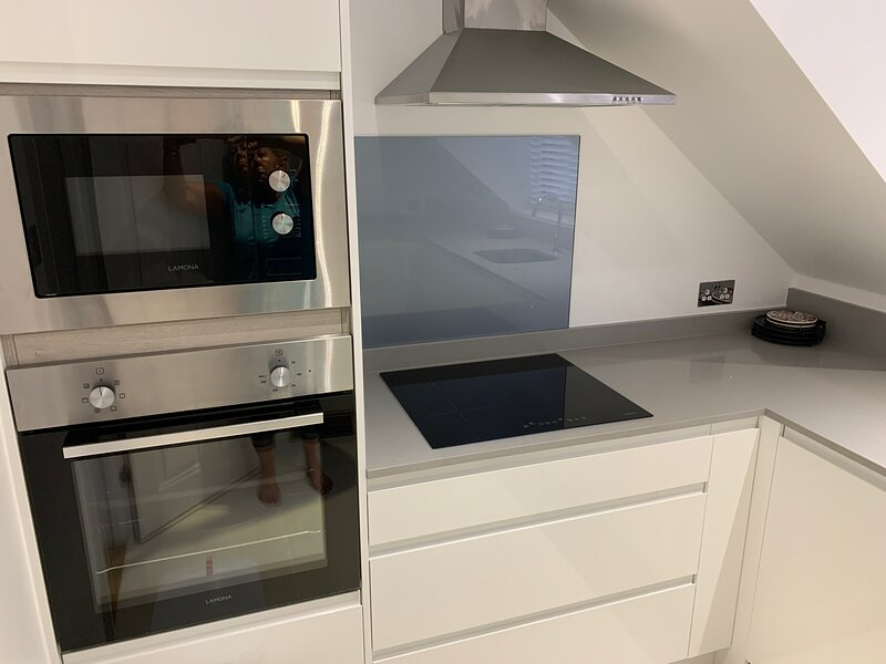 oven/microwave/induction hob/toaster/coffee machine/all plates/pots/glasses/cutlery etc