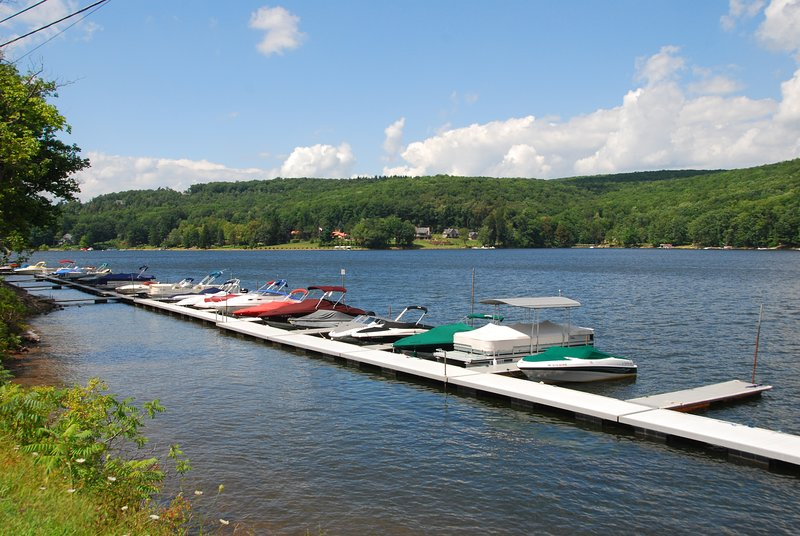 Docks are located along 219 across the street from Subway/Trader's Coffee/High Mountain Sports.