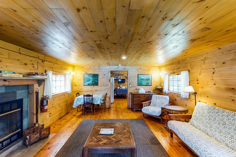 New listing! Classic lakefront cabin w/ screened-in porch - Dogs are okay!, vacation rental in Shelburne