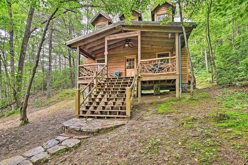 NEW! Serene Balsam Grove Cabin w/ Porch & Hot Tub!, holiday rental in Rosman