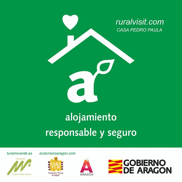 Certificado alojamiento seguro. Gobierno de Aragón