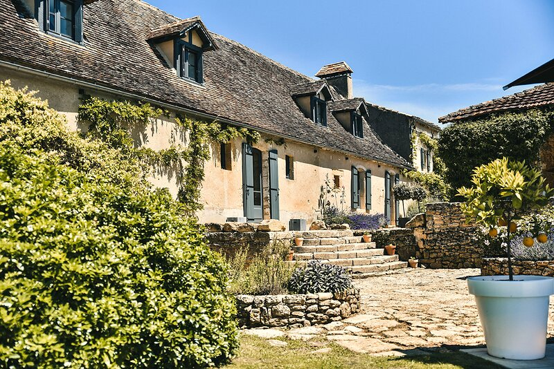 Le Mas: 5 star luxury Dordogne farmhouse offering private pool, garden & WiFi, holiday rental in Sainte Croix