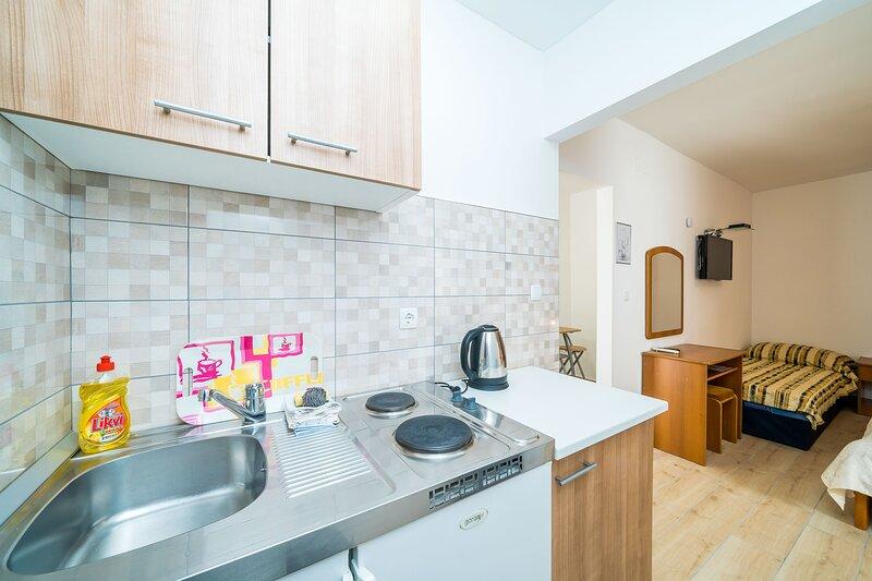 Villa Marija Adriatic-Comfort Studio Apartment with Terrace, vacation rental in Srebreno