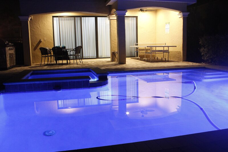 Enjoy the nightlife with a lightshow from your private pool and spa!
