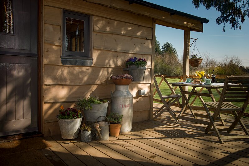 The decking at the front door elevation: ideal for al fresco dining or for relaxing in the sunshine.