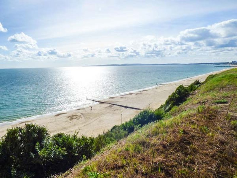 The beautiful Southbourne beach is just at the bottom of the road