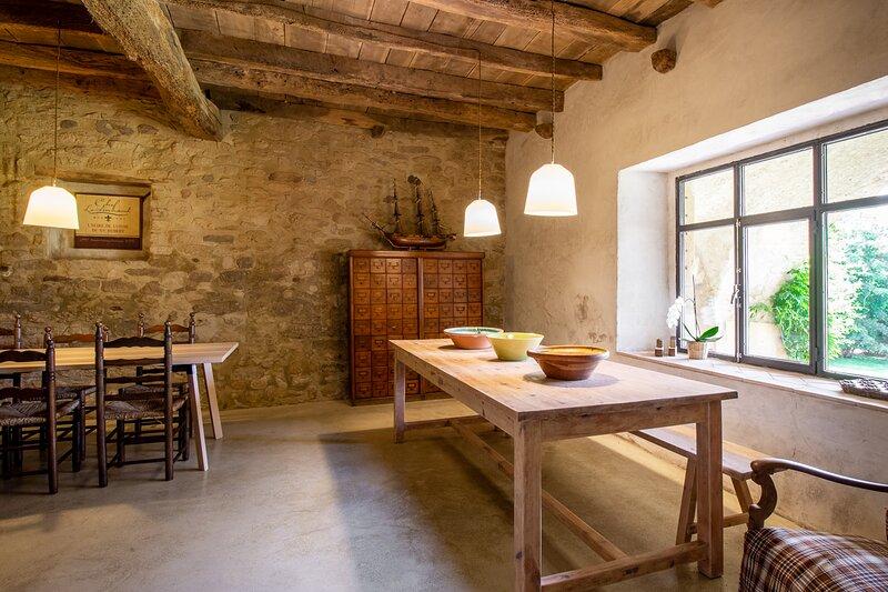 Masía Can Grau - Habitación 2 en entorno natural con jardín. piscina y caballos, casa vacanza a Bascara