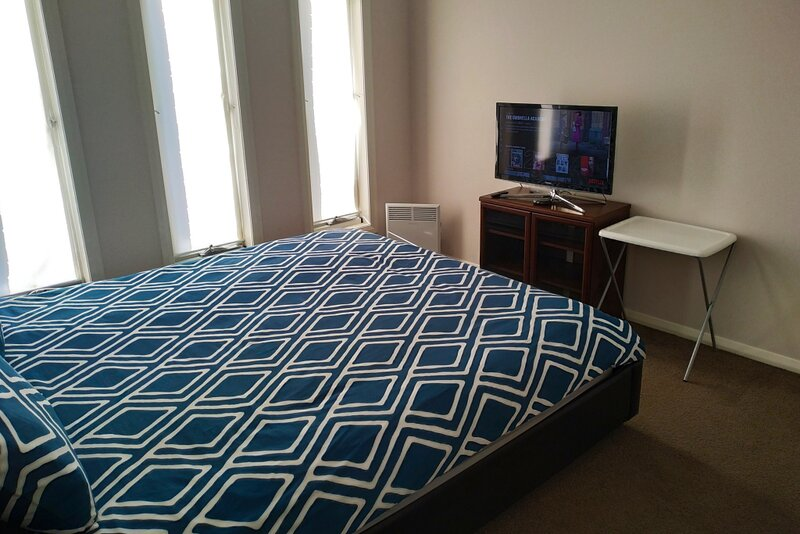 Spacious King size bed with complimentary Netflix