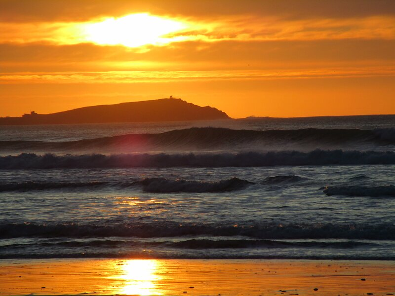Sunset at Watergate Bay