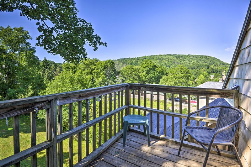 You'll love soaking in the surrounding hills from the unit's private deck.