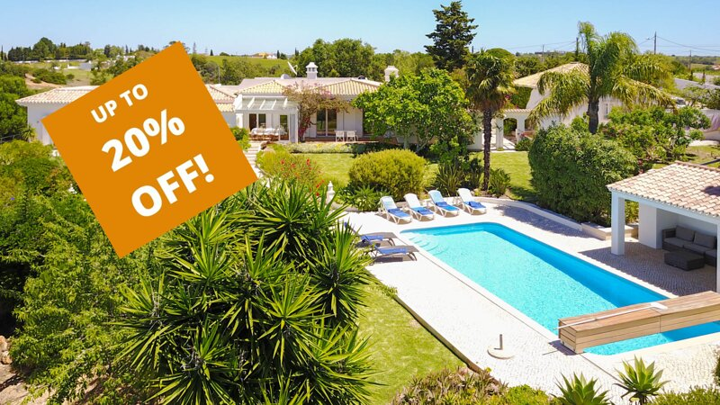 UP TO 20% OFF! AMENDOAL Peaceful villa,solar heated pool,garden,AC,WiFi,sea view, vacation rental in Guia