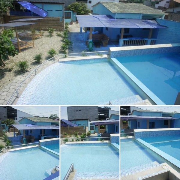 BEACHFRONT VILLA WITH PRIVATE SPA: SAUNA JACUZZI POOL, A/C, 100MB WiFi, location de vacances à Ayampe