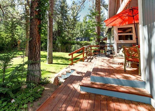 Backyard and patio.