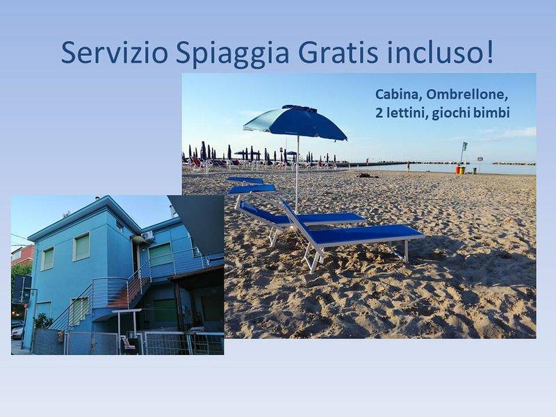 Subito al mare con servizio spiaggia gratis!, vacation rental in Agugliano