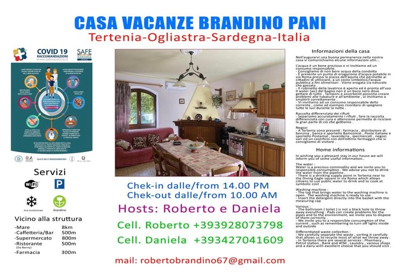 Casa Brandino Pani, casa vacanza a Tertenia