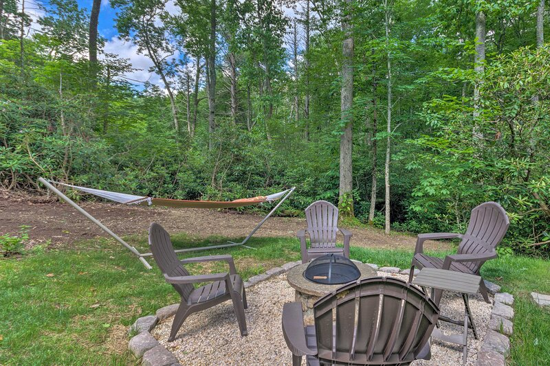 This vacation rental features multiple outdoor living spaces for guests!