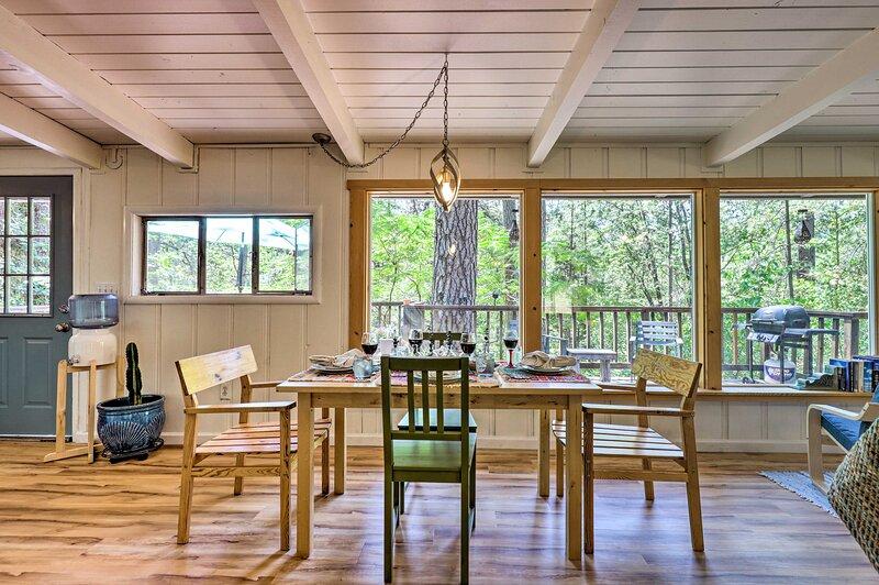 Natural light illuminates every corner of the vacation rental's interior.